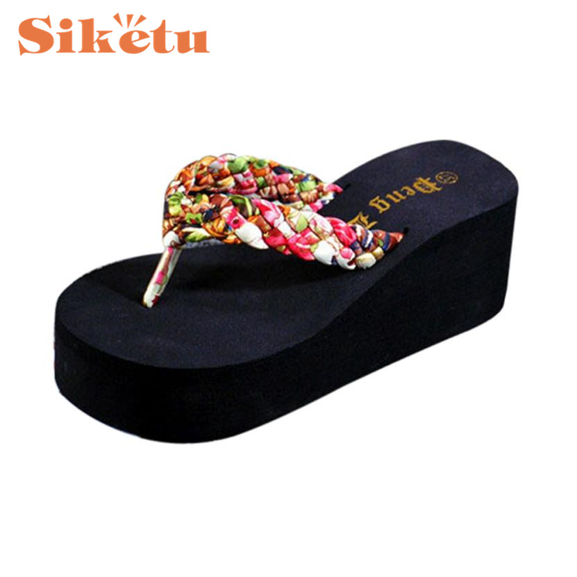 цены  Siketu Elegance Hot New Women Summer Sandals Slipper Indoor Outdoor Flip-flops Beach Shoes 17Mar21