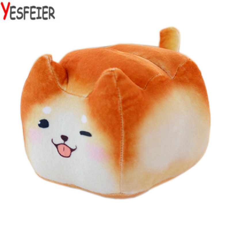 16-30cm Cute dog/cat pillow cushion for leaning on creative bread plush toy cat doll girl a birthday present 75cm super cute plush toy dog lipstick dog pillow doll lying prone as gifts to friends and children with down cotton
