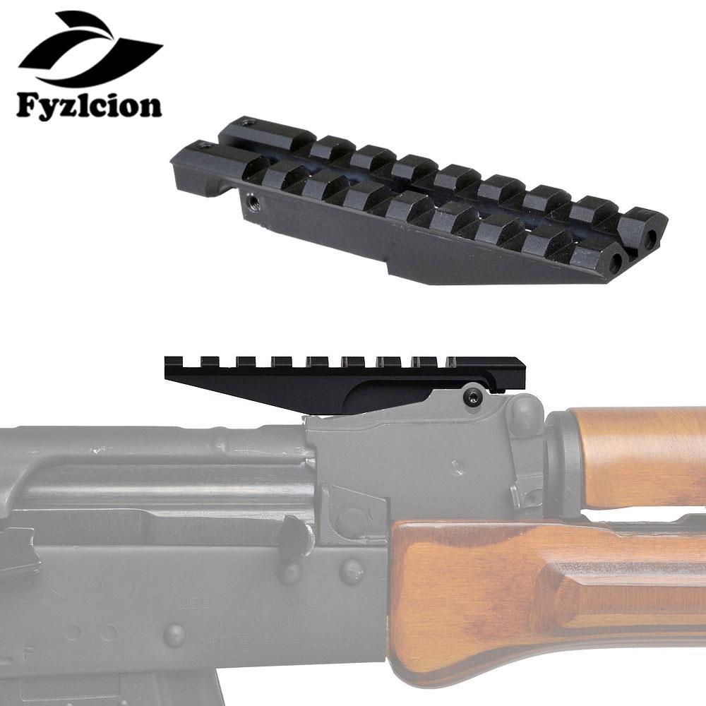 Hunting AK Rear Sight Rail Standard Tactical 1913 Picatinny Weaver Hunting Scope Mount For AK47 AK74 Low Profile Red Dot Optics