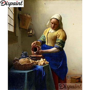 Dispaint Full Square/Round Drill 5D DIY Diamond Painting Character woman 3D Embroidery Cross Stitch Home Decor Gift A12773