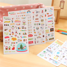 6 Sheet Cute Little Pig Diaries Stickers Kids Home Wall Decor On Laptop Cute Animal Stickers