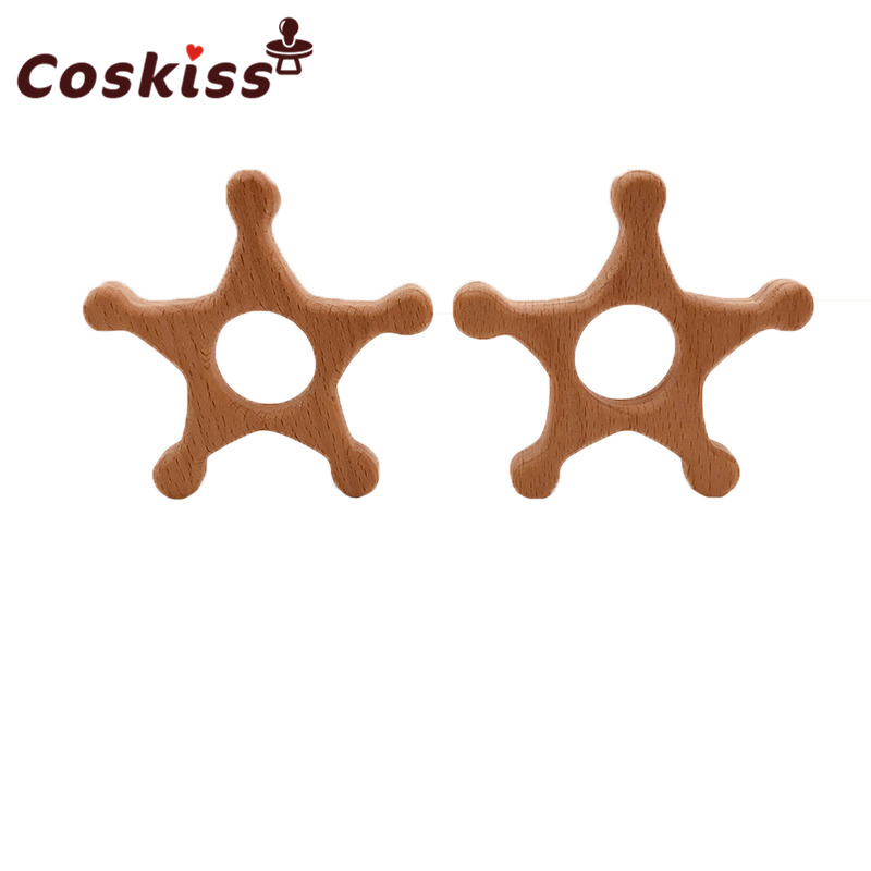 baby-teether-wood-pentagram-shape-teether-natrual-beech-wooden-star-baby-teething-toys-accessories-baby-products-chew-toy