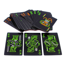 New Hot Novelty Black Glow In The Dark Bar Smooth Paper Fluorescen Poker Cards N