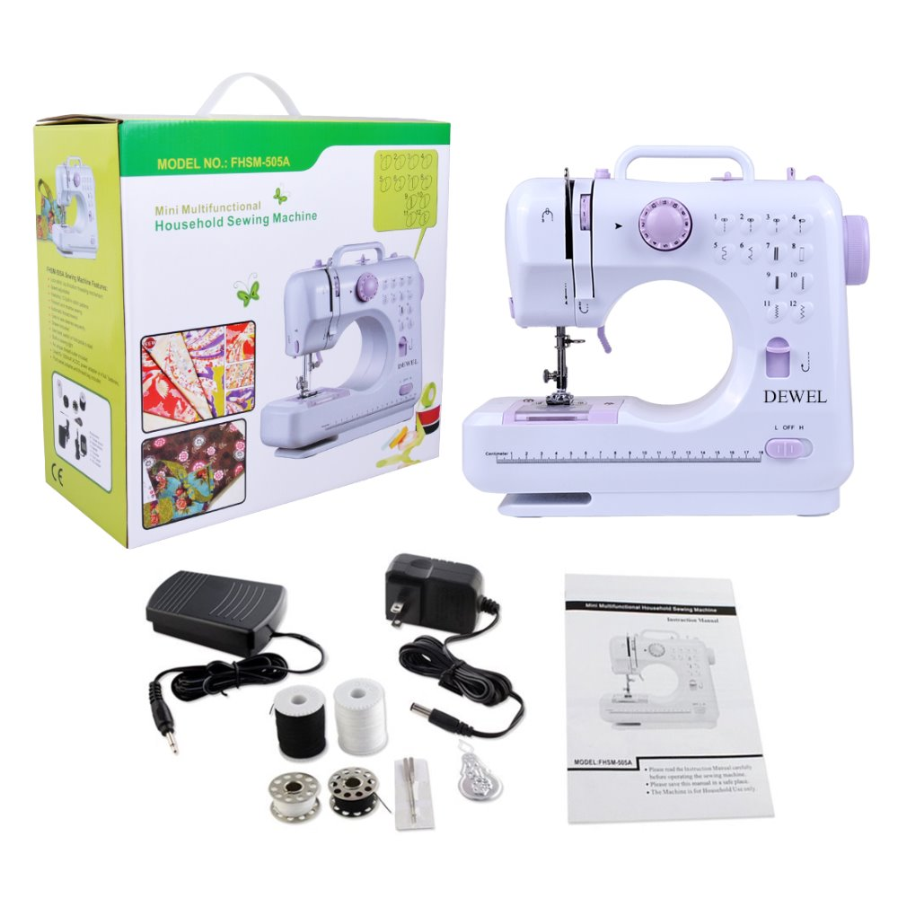 Dewel Mini 12 Stitches Sewing Machine Household Multifunction Double Singer 648 Threading Diagram Dsc 6853 6818 6831 6836 6854 6856
