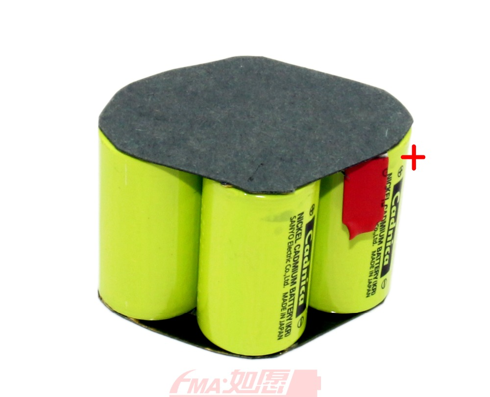 Rechargeable Floor Cleaning Battery Ni-Cd 4.8V 1200 1500 1800 1900mAh Cells 4SZ