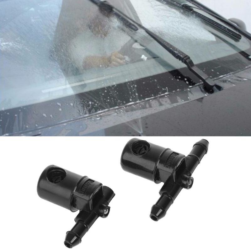 Bico de água para lavagem de para-brisa de carro, 2 peças, spray para buick opel 12782508 12782509