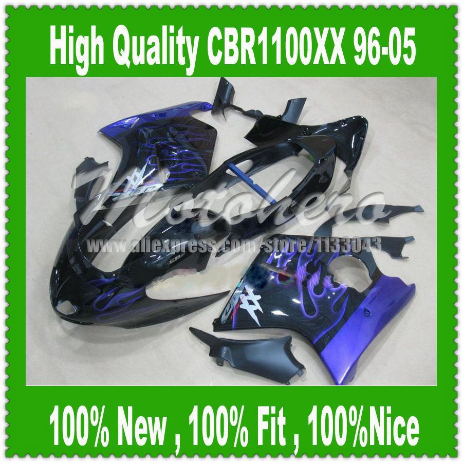 Fairing kit Blue Flame for Honda CBR1100XX 96-05 CBR1100 XX 96 05 1996 2005 CBR 1100XX 96 05 CBR 1100 XX 96 05