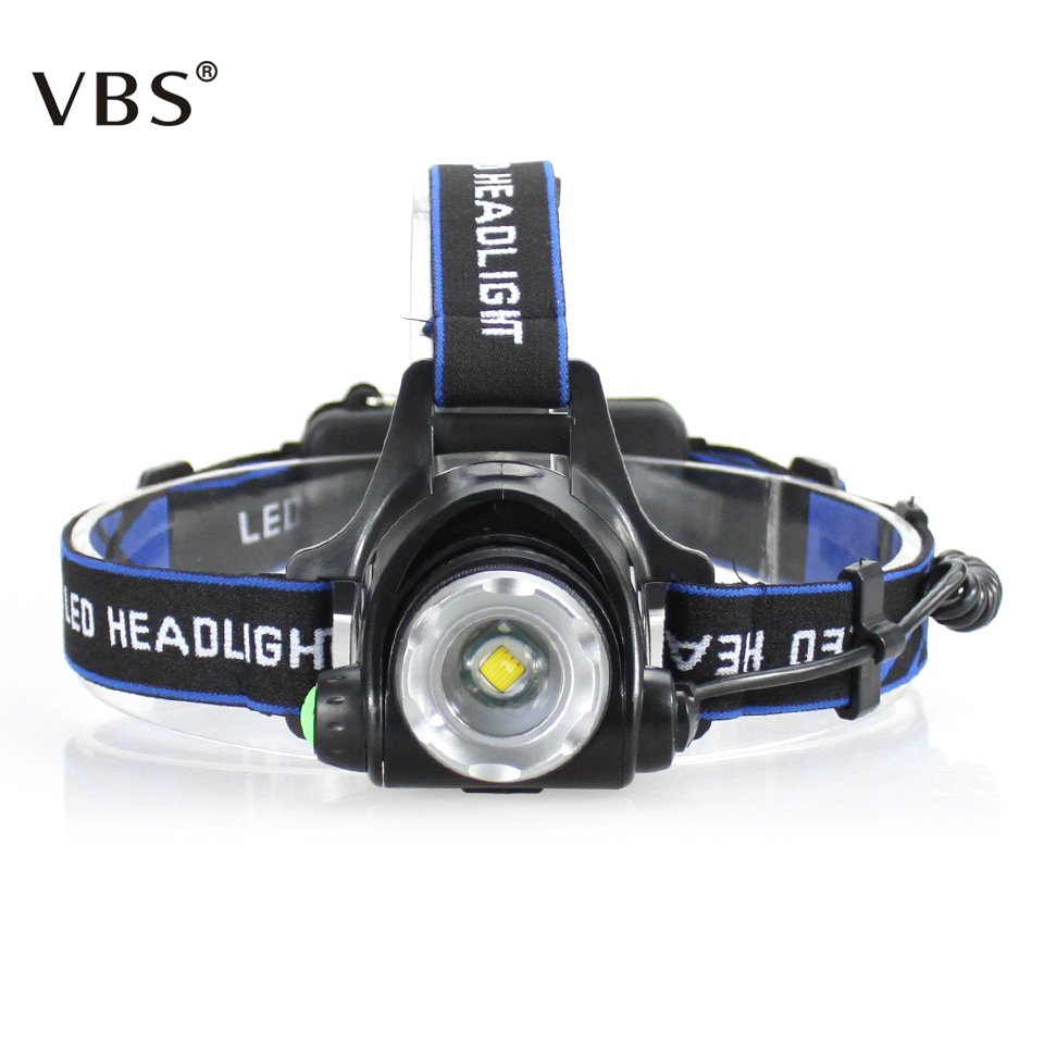 цена Head Flashlight 2000 Lumens Waterproof Headlight Led Rechargeable 18650 Headlamp Torch Lantern on Forehead for Camping Light