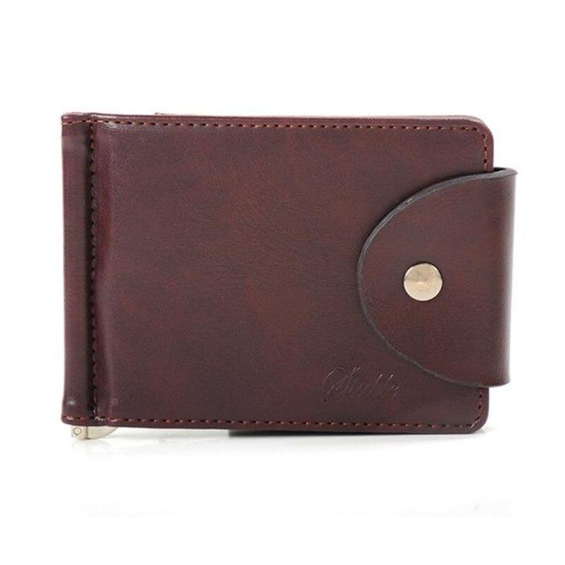 где купить Women's Purses 2017 Hot Sale Luxury Men's Ultra-thin Leather Money Clip Slim Wallets ID Credit Card Purse A8 дешево