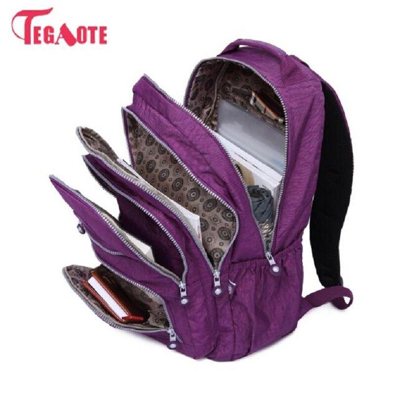 TEGAOTE Female Backpack Laptop Travel-Bags Teenage-Girls Women for Mochila Feminina Sac