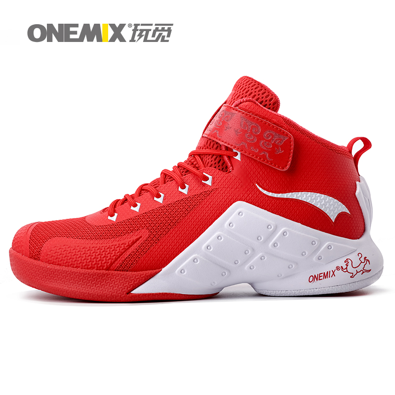 ONEMIX 2016 New Basketball Shoes Men Ankle Boots Male Anti Slip Outdoor Sport Sneaker Man 8 Color Plus Size 39-46 Free Shipping original li ning men professional basketball shoes