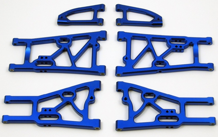 цены CNC metal suspension arm set bule fit Kyosho MP7.5 Inferno GT2 VE rc car parts