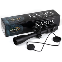 Caza Tiro Kaspa Weaver 3-12X44 Optical Sight P4 Vidrio Grabado Retículo Rifle Scope Visores Ajuste de Paralaje Lateral
