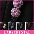 Ladycrystal 1 UNIDS Auto Cubierta Del Cinturón de seguridad Del Coche Del Cinturón de seguridad Hombrera Car Styling Colorful Rose Hombro Del Cinturón de seguridad