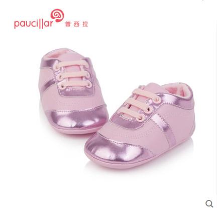 T.S. primeros Caminante Edad 0-1 Cuero Genuino Suave zapatos de Bebé Recién Nacidos Antideslizantes zapatos de Las Muchachas Zapatos Infantiles Primeros Caminante Del Niño