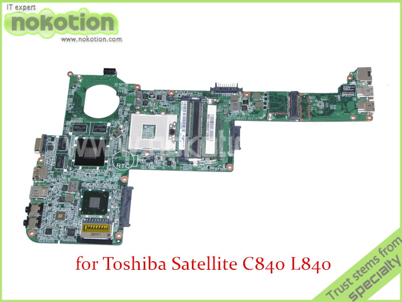 NOKOTION DABY3CMB8E0 REV E A000175380 For toshiba Satellite C840 L840 Laptop motherboard HD4000 ATI HD7670M graphics DDR3 nokotion a000175380 laptop motherboard for toshiba satellite c840 l840 main board ati hd7670m graphics ddr3 daby3cmb8e0