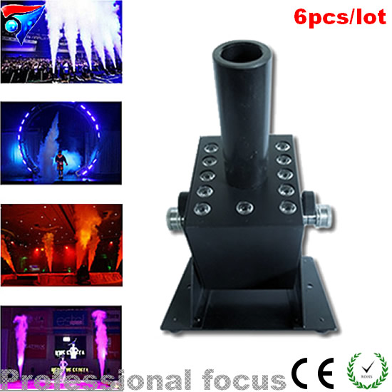 2pcs/lot 12*3W led Co2 Jet Machine Multi Angle Smoke Jet LCD Display RGB 3IN1 With T Splitter Connector And 6M Hose good group diy kit led display include p8 smd3in1 30pcs led modules 1 pcs rgb led controller 4 pcs led power supply