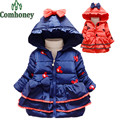 Minnie Mouse Baby Girls Jackets Infant Overcoat Winter Warm Thick Children Hooded Outerwear Kids Winter Coat Girls Snow Suit