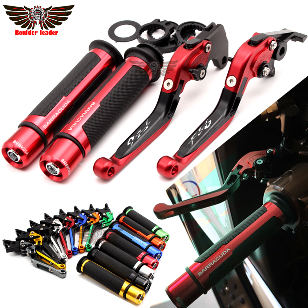 For Yamaha FZ6 FAZER 2004-2010 2005 2006 2007 2008 2009 Motorcycle Adjustable Folding Brake Clutch Levers Handlebar Hand Grips