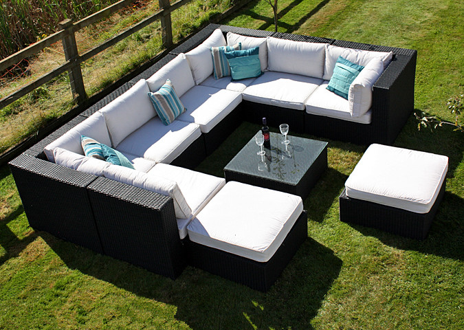 2017 Hot Sale All Weather Synthetic Rattan Latest Design Sofa Set In Garden Sofas From Furniture On Aliexpress