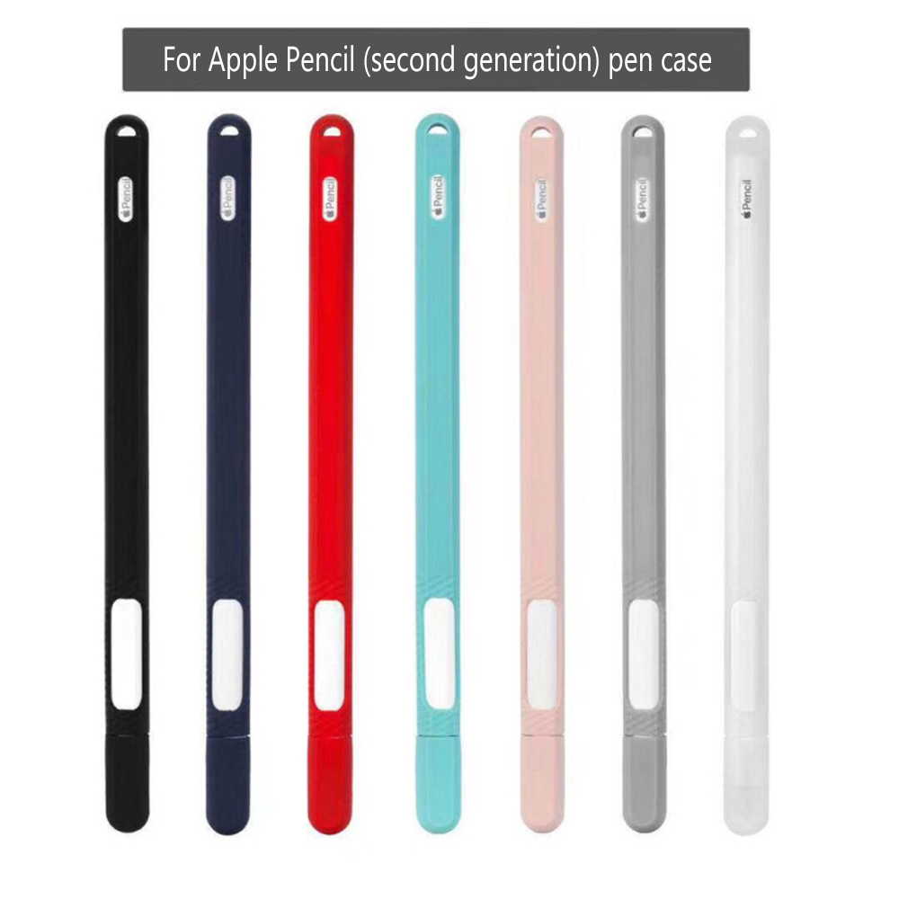 For IPad Pencil 2 Cap Tip Cover Holder  Soft Silicone For Apple Pencil 2nd Generation Case Tablet Touch Pen Stylus Pouch Sleeve