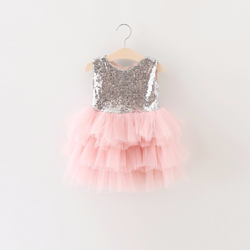 Girls Princess Dress 2017 Summer Girl Fashion Lace Tulle Cake Pink Party Wedding Dresses With Bow Kids Dress For Girls 2-6Y summer 2017 new girl dress baby princess dresses flower girls dresses for party and wedding kids children clothing 4 6 8 10 year