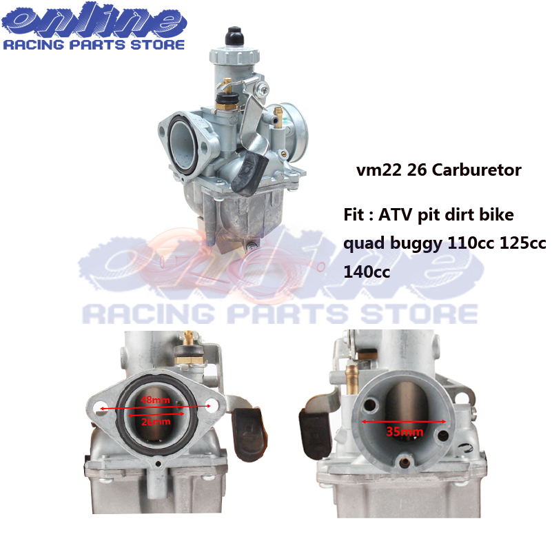 Mikuni Carburetor VM22 26mm 110cc 125cc Pit Dirt Bike ATV Quad PZ26 Performance Carburetor Part Free Shipping 125cc cbt125 carburetor motorcycle pd26jb cb125t cb250 twin cylinder accessories free shipping