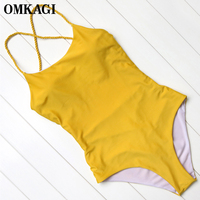 OMKAGI Brand New Swimwear Women Push Up Bodysuit Women S Swimming Suit Beachwear Summer Monokini 2017