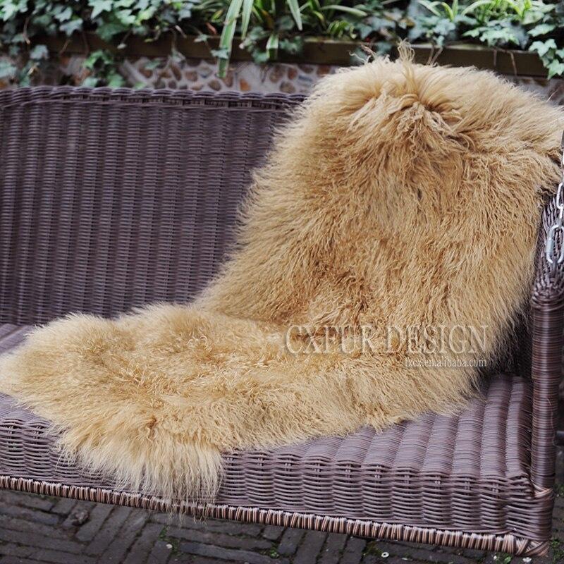 CX-D-24T couvertures de fourrure d'agneau mongole de grande qualité