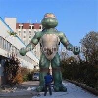 Personalizzato 5mH gigante anime character Fiera gonfiabile Teenage Mutant Ninja Turtles per promozionale