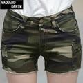 2015 Straight Mid Jeans Fashion Summer Hot Sexy Short Jeans Feminino Pantalones Cortos Mujer Camouflage Shorts For Women 7351