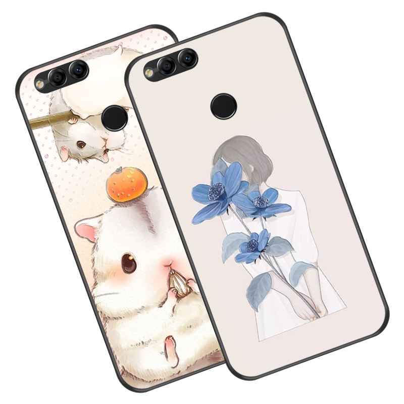 Cute Animal Luxury Silicone Case For Huawei Honor 7X Soft Relief TPU Phone Cover Bag For Huawei Honor 7XPlay Phone Case