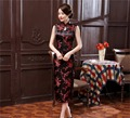 Free Shipiping New Arrival Chinese Traditional Dress Women Rayn Satin Cheongsam Long Dripping Qipao Chinese  Long Dress