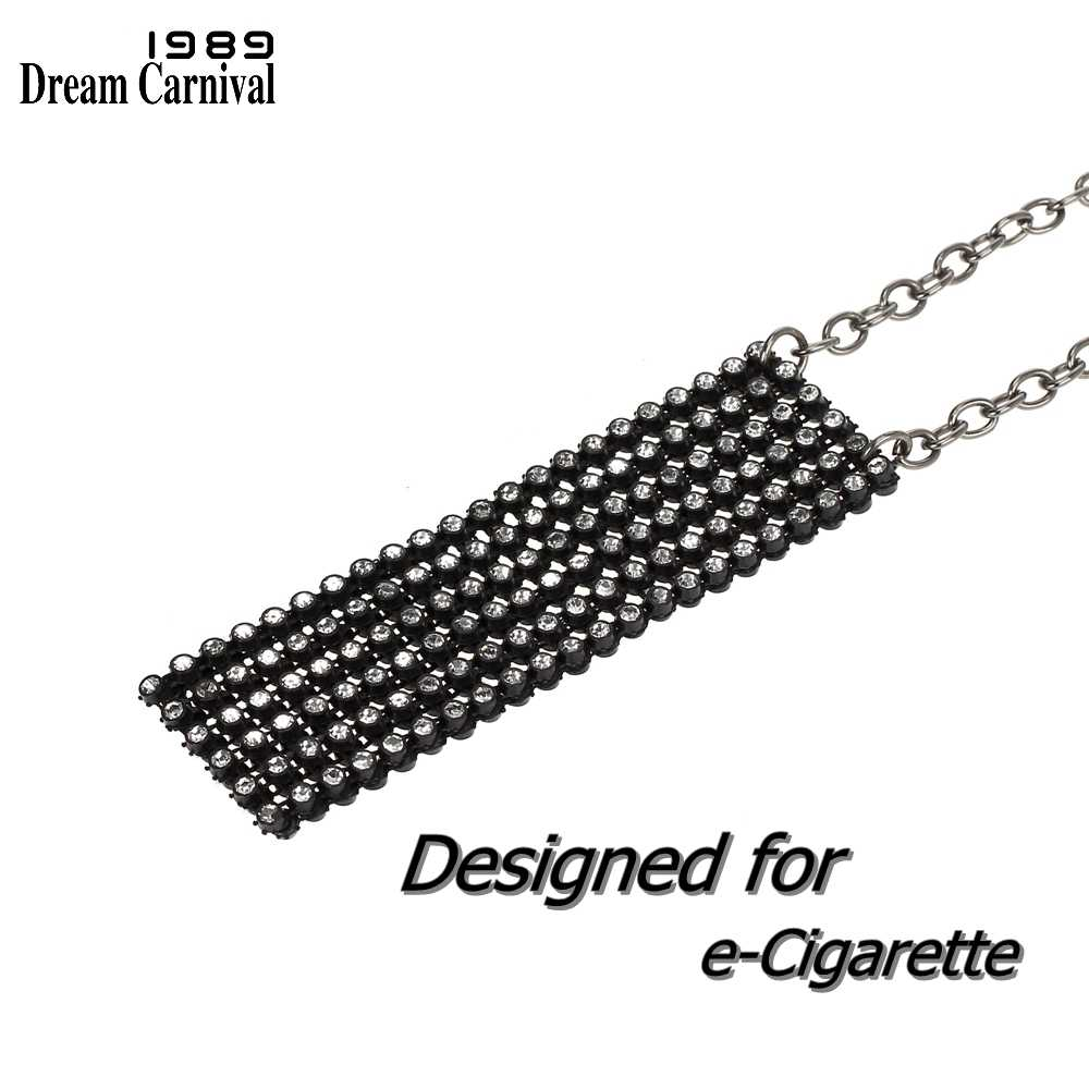 DreamCarnival 1989 New Design Women Pendant Necklace with Sparkling Crystal Mesh Pouch for Juul e-Cigarettes Accessories DP0901B