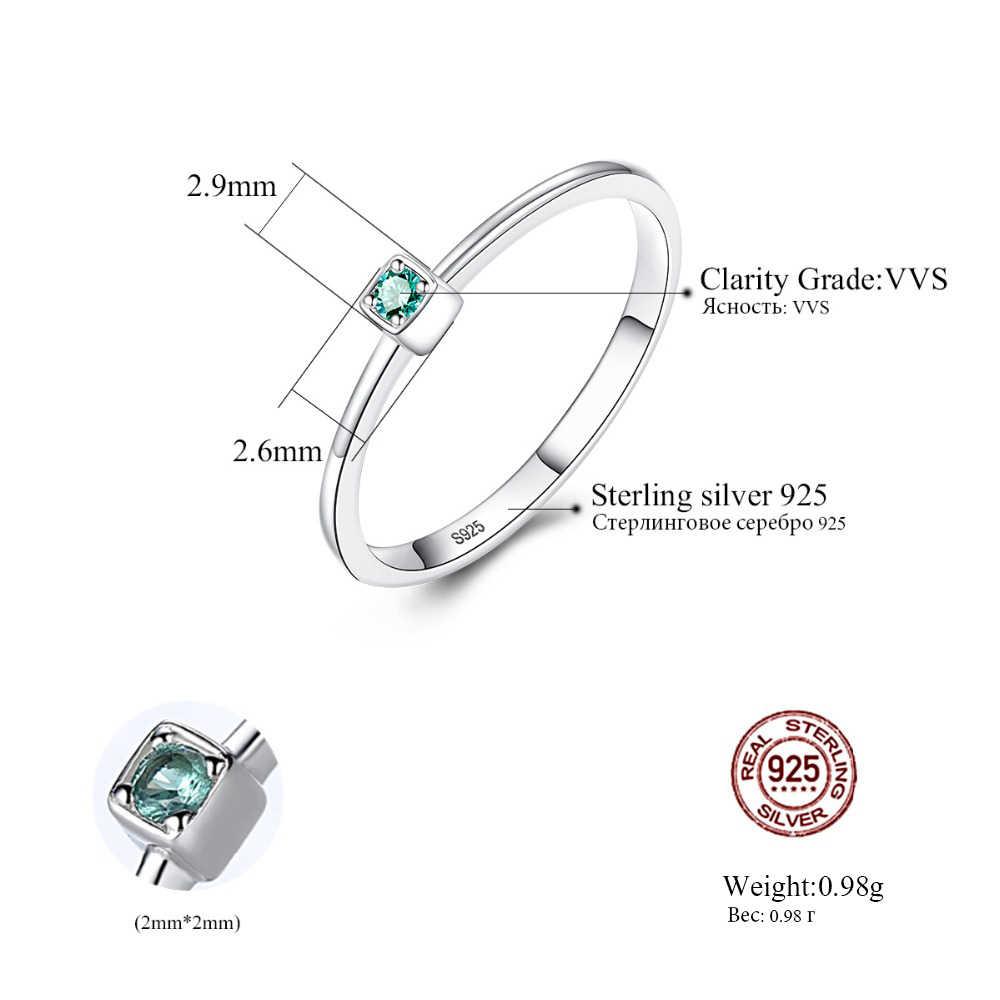 CZCITY hakiki 925 ayar gümüş VVS Topaz alyanslar kadınlar için Minimalist yuvarlak daire mücevher yüzük takı oyma S925