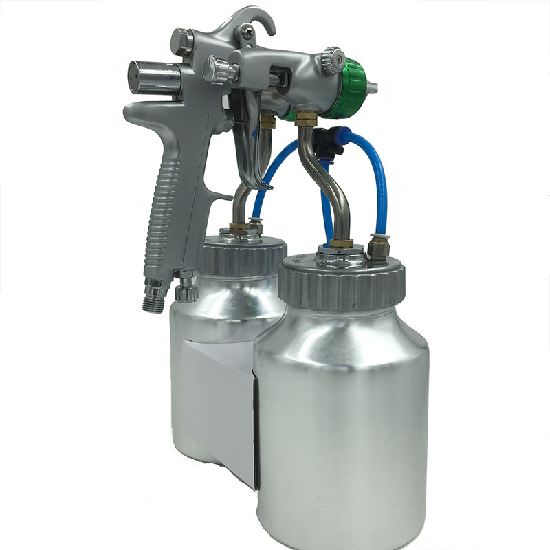 new double twin duel head spray gun chroming silvering high pressure. Black Bedroom Furniture Sets. Home Design Ideas