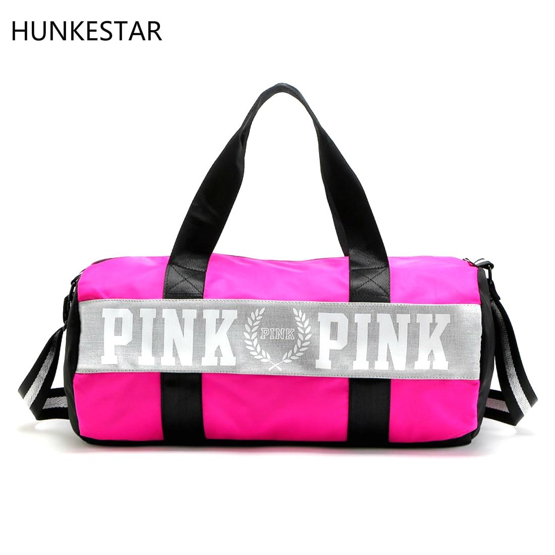 2018 в полоску для девочек вещевой мешок любовь розовый Виктория сумка большая Ёмкость тренажерный зал, спортивный рюкзак Secret Weekender Vs сумка