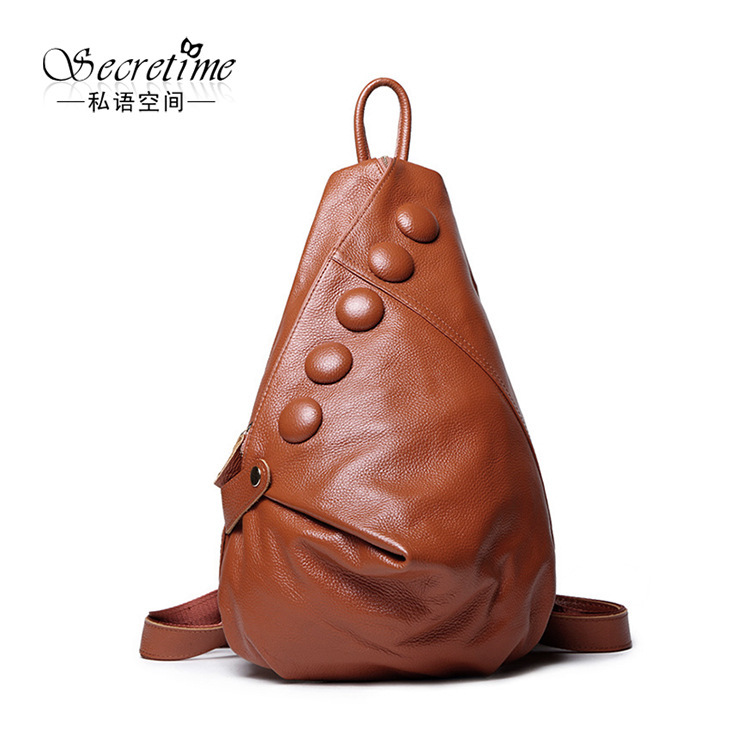 Genuine Real Leather BackPack Rucksack SchoolBag Hot Fancy Top Quality Simple Design Famous Brand New Fashion Design Women Lady zooler genuine leather backpacks 2016 new real leather backpack for men famous brand china hot large capacity hot 65055