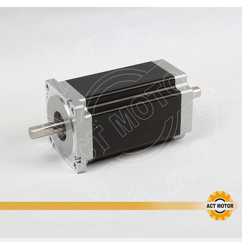 Free ship from Germany!ACT Motor 1PC Nema34 Stepper Motor 34HS1456B Dual Shaft 4-Lead 1232oz-in 118mm 5.6A Bipolar CNC ROUTER free ship from germany act 3pcs nema34 stepper motor 34hs1456b dual shaft 4 lead 1232oz in 118mm 5 6a 3pcs driver dm860 7 8a 80v