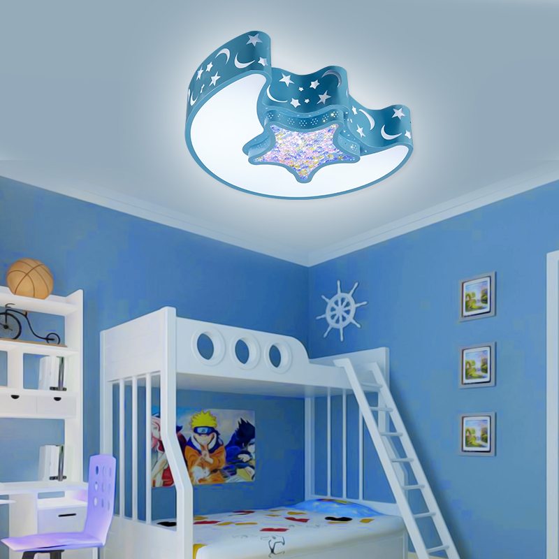 Coroful Cartoon Children Room Lights Creative Moon Star Lights LED Cute Bedroom ceiling lights kid's room Ceiling Lamps hghomeart kids led pendant lights basketball academy lights cartoon children s room bedroom lamps lighting