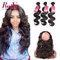 360 Lace Frontal With Bundle Brazilian Virgin Hair Body Wave With Closure 360 Lace Frontal With Bundle Pre Plucked Human Hair