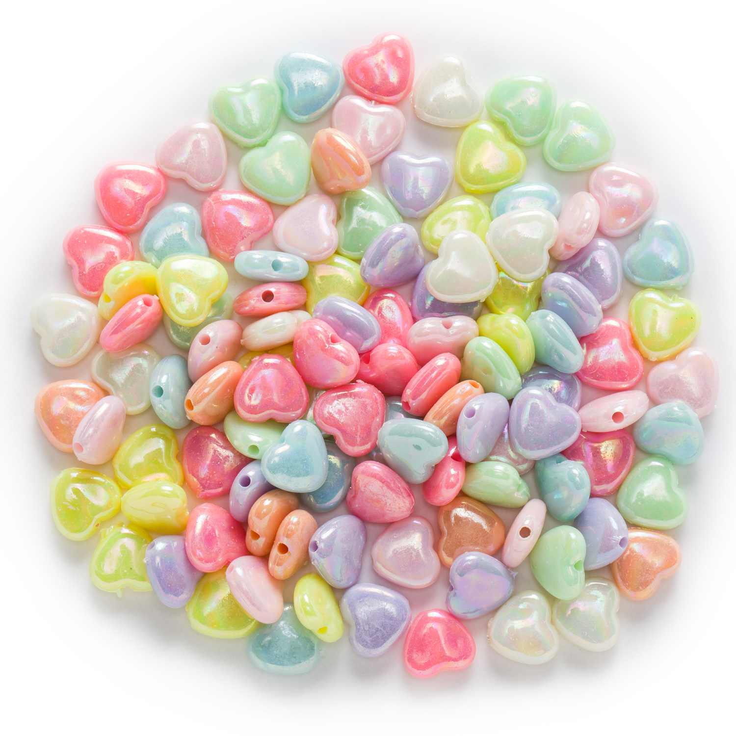 25Pcs Mixed Acrylic Plastic Letters Heart Spacer Beads Charms 12mm