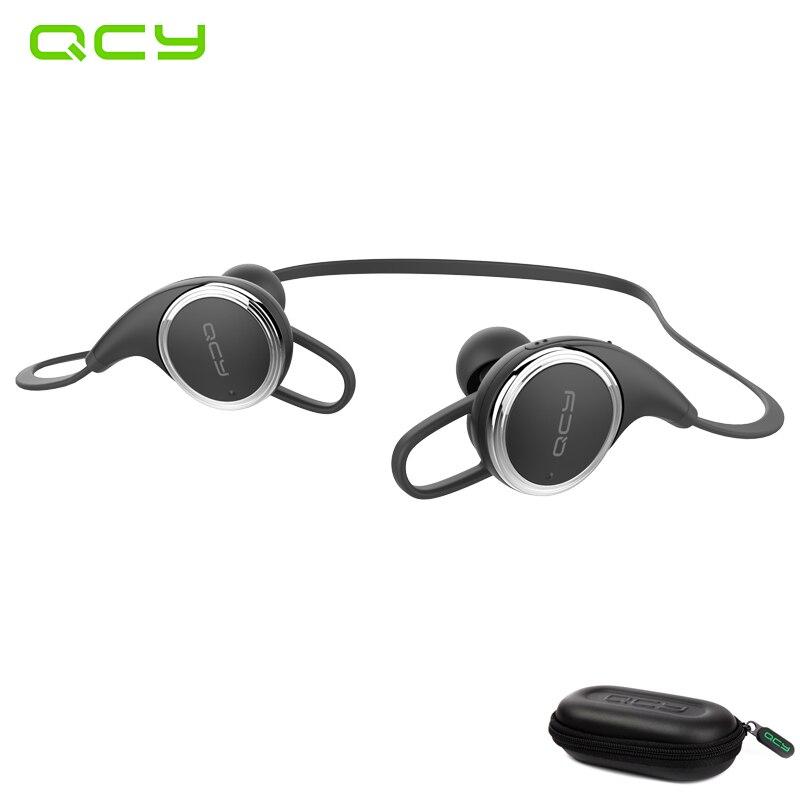 QCY QY8 deporte auricular inalámbrico de auriculares bluetooth jugador impermeable auriculares con micrófono con cancelación de ruido y QCY caja de almacenamiento