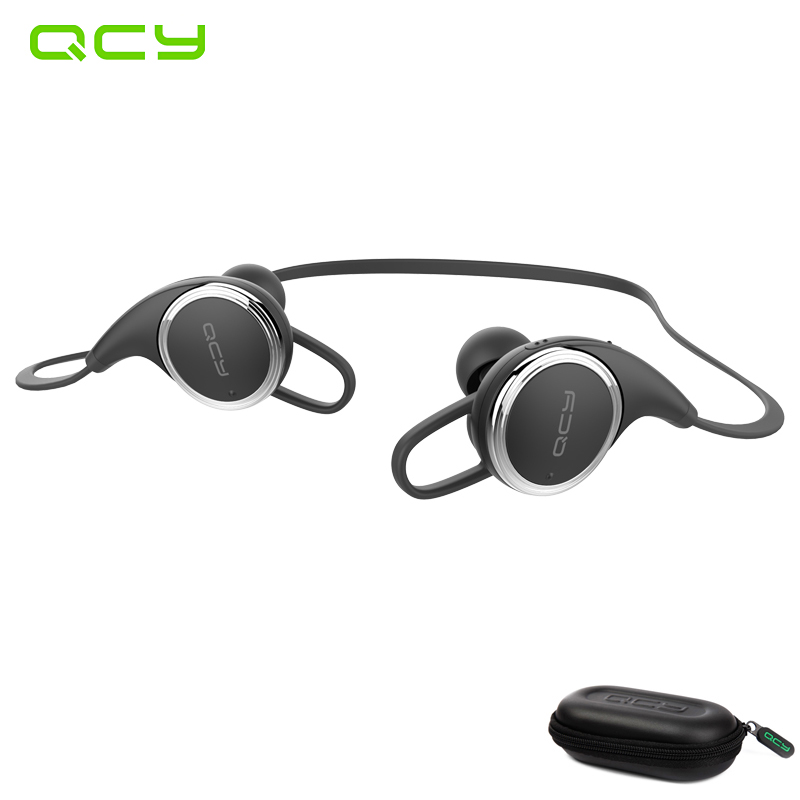 QCY QY8 sport wireless earphone running bluetooth headset gamer waterproof earbuds with MIC noise cancelling and QCY storage box mifo u6 bluetooth headphones wireless sport earphone noise cancelling running earbuds waterproof hifi stereo with mic for iphone