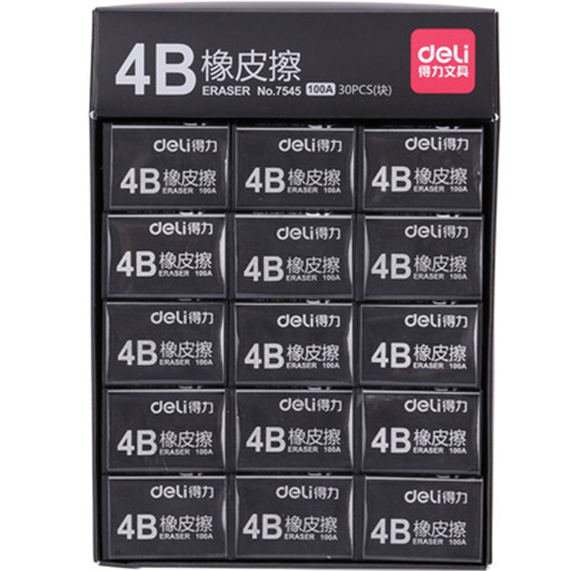DL Effective 7545 Color Eraser  Black Eraser Quality Examination Teaching Office Student Stationery School Supplies Wholesale