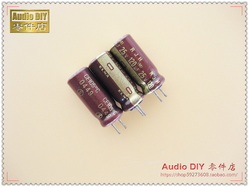 30PCS ELNA gold RJH series 120uF 25V electrolytic capacitor on behalf of 100uF 25V free shipping