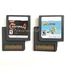 Contra 4 Yohis_Island HeartoldSoulSilveBlack 1 2 Wit 1 2 Engels Taal ONS Versie Video Game Cartridge