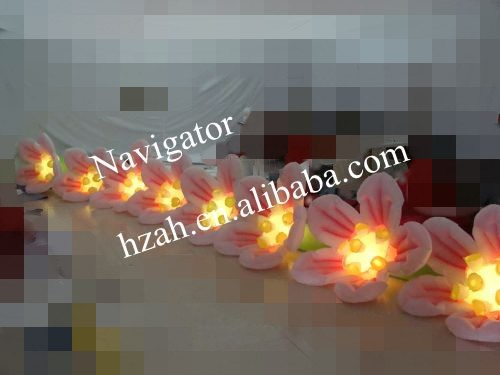 Catena di fiori gonfiabili di vendita calda per la decorazione di nozze