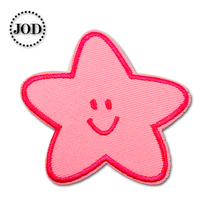 Star 5.5x6cm Embroidered Patches for Clothing Iron on Clothes Patch Children DIY Sew on Applications Applique Sewing DIY girl 6x4cm small embroidered patches for clothing iron on clothes patch children diy sew on applications applique sewing cartoon