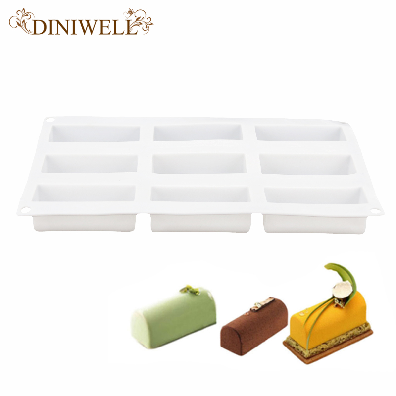 White Silicone Roll Non-Stick Mold Log Delicate Chocolate Desserts Twinkie Tea-time Cake Polvoron Filipino Candy Pastries Molds